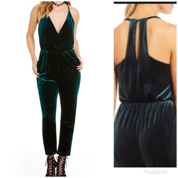 Gianni Bini Pants Gb From Dillards Velvet Jumpsuit Poshmark
